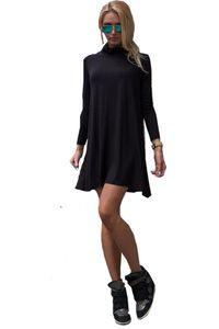 65-10 Japan Style von Mississhop Damen Longshirt Kleid Pulli Tunika Schwarz L