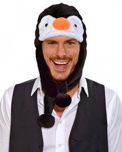 Plüsch Pinguin Mütze