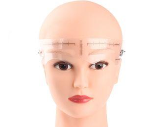 Stirn Augenbrauen-Schablone wiederverwendbar 12 Vorlagen perfekte Form