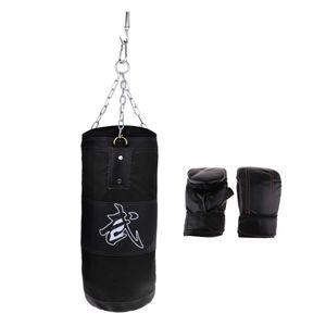 Zuverlässiges Boxset Mit Leerem Kickboxing Beutel Und Fausthandschuhen