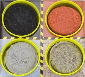 Play-Doh Wheels Baustellen Knete 4er Pack Spezial Asphalt Zement Kinderknete Hasbro E6037