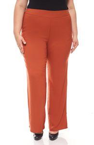 sheego weite Damen-Stretchhose Große Größe Orange, Größe:44