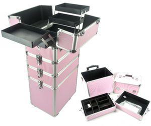 Make-up Make-up Koffer Kosmetik Friseurwagen Kosmetikkoffer 4 in 1 Pink