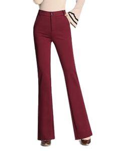ydance Damen Anzughose Formelle Büro Lange Hosen Strecken Hohe Taille Bottom Hosen,Farbe:Cralet,Größe:M