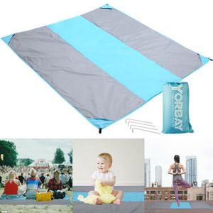Stranddecke XXL Outdoor Picknickdecke wasserdicht 200*210cm Ultraleicht