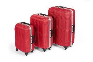 MasterGear ABS-Hartschalenkoffer-Set Größen S, M, L, 3er-Kofferset, rot