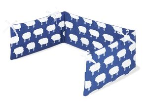 Nestchen für Kinderbetten 'Happy Sheep', blau