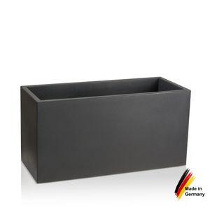 Pflanztrog VISIO 50 Kunststoff Blumenkübel, 100x40x50 cm (L/B/H), Farbe: anthrazit matt