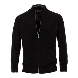 CasaModa Strickjacke schwarz Stehkragen Übergröße, Größe:5XL