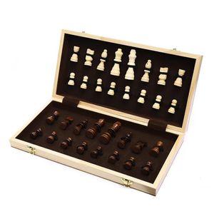 Internationalen Schach Set, Tragbare Faltbare Schach Bord, Schach Spiel, Holz Schach mit Stück, für Home Versammlung, Reise Spiel M. wie beschrieben Internationales Holzschach