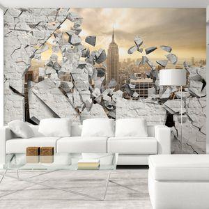 Vlies Tapete  Top  Fototapete  Wandbilder XXL  350x256 cm ABSTRAKT OPTISCH 3D OPTIK NEW YOERK NYC STADT STEINE d-A-0045-a-b