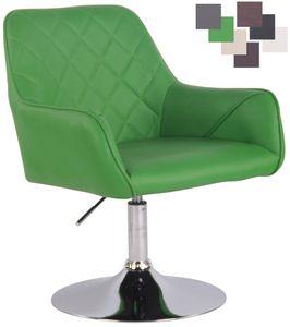 CLP Lounger Wellington Kunstleder drehbar mit Höhenverstellung, Farbe:grün, Gestell Farbe:Chrom