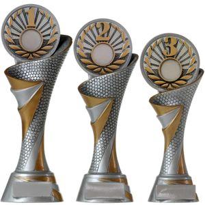 3er Pokalset FG Platz 1, 2 und 3 Zahlen Zahl mit Emblem