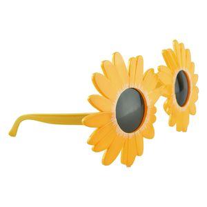 KINDER Sonnenbrille Jungen Mädchen Shades Kinder Klassische Vintage Urlaub-Sonn 16x13cm Gelb Sonnenblumen