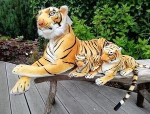 3er Set Tiger Familie Plüschtier Braun Kuscheltier 3 verschiedene Größen