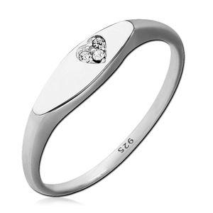 viva-adorno Gr. 56 (17,8 mm Ø) Damen Ring Fingerring Verlobungsring 925 Sterlingsilber Kristall Herz Zirkonia SR39,