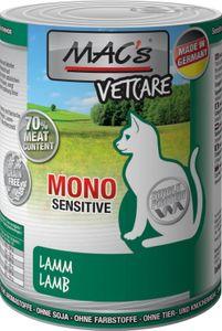 MAC's Cat Vetcare Mono Sensitive Lamm (100%) + Karotte 6 x 400g Katzenfutter Nass