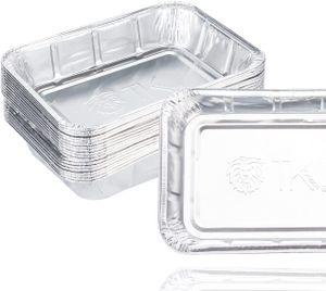 40er Tropfschale - Einwegschale aus Aluminium zum Grillen - Aluschale ca. 20x 22 cm Grillschale - Fettauffangschale