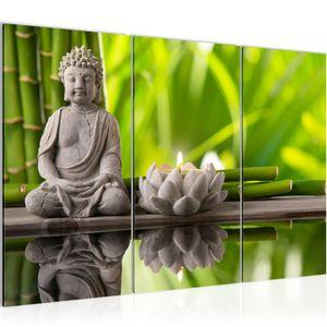Feng Shui Buddha BILD 120x80 cm − FOTOGRAFIE AUF VLIES LEINWANDBILD XXL DEKORATION WANDBILDER MODERN KUNSTDRUCK MEHRTEILIG 010131a