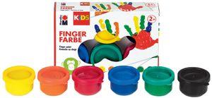 Marabu KIDS Fingerfarbe 35 ml 6er Set farbig sortiert