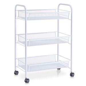 Zeller Etagen-Rollwagen, weiß, Mesh 43,5x26x62,5