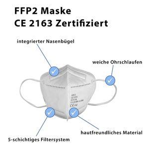 FFP2 Maske Mundschutz Schutzmaske 5-lagig Atemschutz  20 Stück