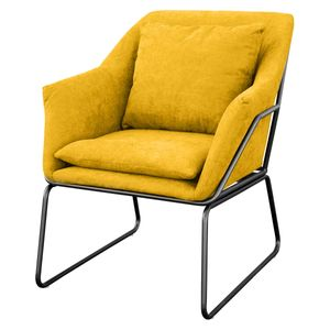 SVITA JOSIE Sessel Stoff gelb Fernsehsessel Relaxsessel