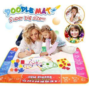 Wasser Zeichnung Färbung Doodle Mat Malbrett mit Magic Pen Toys Weihnachtsgeschenk für Kinder,29 * 19 cm