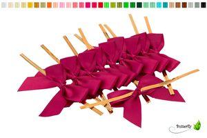 Satinschleifen 5cm, 10 Stück, Farbauswahl:weinrot / bordeaux 193