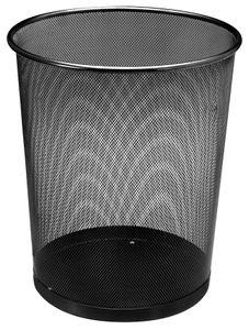 Papierkorb Metall 18 Liter - Farbe: schwarz 456206