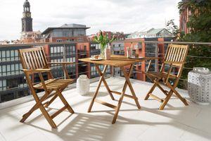 Balkonmöbel Set 3tlg Akazie Klapptisch 62 x 62 cm CAMERON