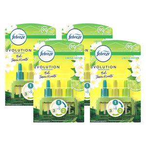 4x Febreze 3Volution Nachfüllflakon für Duftstecker, Bali Jasmin-Limette
