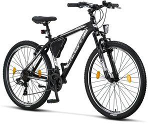Licorne Bike Effect Premium Mountainbike - Fahrrad für Jungen, Mädchen, Herren und Damen - Shimano 21 Gang-Schaltung - Herrenrad, Farbe:Schwarz/Weiß (V-Bremse), Zoll:27.50