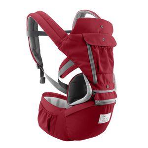 Babytrage mit Hueftsitz Atmungsaktives und abnehmbares Design Verstellbarer Gurt Seitentaschen Multifunktionale ergonomische Baby-Sicherheitstraeger Traeger Taillenhocker fuer 0-36 Monate Babys Kleinkinder Kleinkinder