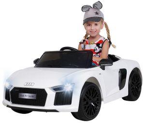 Kinder Elektro Auto Audi R8 4S Spyder Lizenziert Kinderauto Kinderfahrzeug 2018 (Weiß)