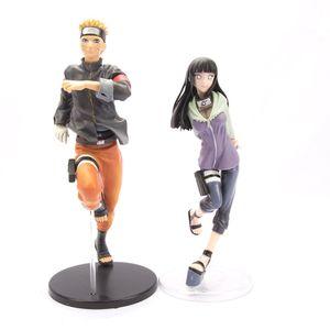 2 Stück Anime Naruto Uzumaki Naruto Hyūga Hinata Figur Spielzeug PVC