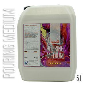 Pouring Medium Acryl Fluid für Fließtechniken von Acrylfarben Pouring Medium 5 Liter