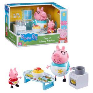 Unordentliche Küche   Spielset   Peppa Pig   Figur Peppa Wutz & Papa Wutz