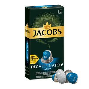 JACOBS Kapseln Decaffeinato 6 Lungo entkoffeiniert Nespresso®* kompatibel 10 Kapseln à 5,2 g