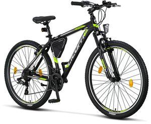 Licorne Bike Effect Premium Mountainbike - Fahrrad für Jungen, Mädchen, Herren und Damen - Shimano 21 Gang-Schaltung - Herrenrad, Farbe:Schwarz/Lime (V-Bremse), Zoll:27.50