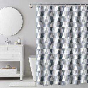 240x200cm Duschvorhänge Wasserdicht Duschvorhang Wannenvorhang Diamant Dreieck Muster Dusche Vorhang