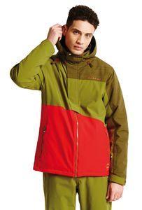 dare2b Herren Ski Jacke Skijacke HURL DOWN II rot / grün, Größe:L