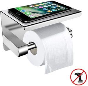 Toilettenpapierhalter Ohne Bohren mit Ablage