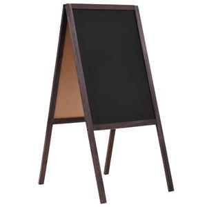 vidaXL Tafel Kundenstopper Doppelseitig Zedernholz Freistehend 40×60cm