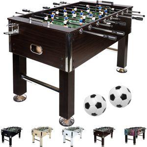 "GamesPlanet® Profi Tischfussball ""Leeds"", Holz dunkel"