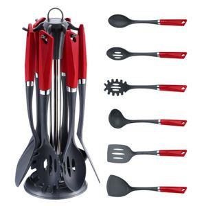 MICHELINO 7-tlg. Küchenhelfer-Set ink. Ständer Rot Matt 47002