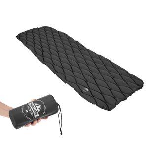 Lumaland Outdoor Campingmatte Isomatte Schlafmatte aufblasbare Luftmatratze fürs Zelt 188 x 60 x 6 cm Dunkelgrau