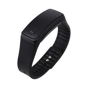 Mode Digital LED Herren / Damen Sportuhr Silikonband Armbanduhren Schwarz