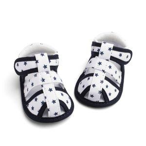 Fünfzackige Sternbabysandalen für Kinder mit weicher Sohle für Kleinkinder Größe:20.5,Farbe:Weiß