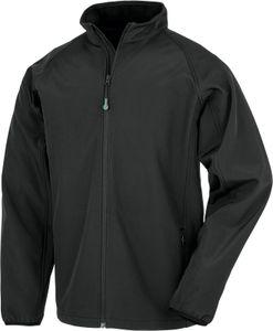 Result Genuine Recycled Herren Softshell-Jacke 2-Lagen Softshell Jacke Printable R901M Schwarz Black M